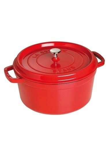 Staub Cocotte Yuvarlak 28 Cm  Kırmızı Kırmızı